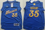 Cheap Youth Golden State Warriors #35 Kevin Durant adidas Royal Blue 2016 Christmas Day Stitched NBA Swingman Jersey
