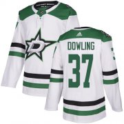 Cheap Adidas Stars #37 Justin Dowling White Road Authentic Stitched NHL Jersey