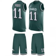 Wholesale Cheap Nike Eagles #11 Carson Wentz Midnight Green Team Color Men's Stitched NFL Limited Tank Top Suit Jersey