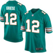 Wholesale Cheap Nike Dolphins #12 Bob Griese Aqua Green Alternate Youth Stitched NFL Elite Jersey