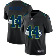 Wholesale Cheap Seattle Seahawks #14 DK Metcalf Men's Nike Team Logo Dual Overlap Limited NFL Jersey Black