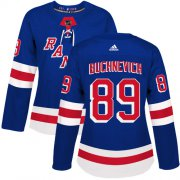 Wholesale Cheap Adidas Rangers #89 Pavel Buchnevich Royal Blue Home Authentic Women's Stitched NHL Jersey