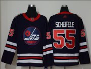 Wholesale Cheap Adidas Jets #55 Mark Scheifele Navy Blue Authentic 2019 Heritage Classic Stitched NHL Jersey