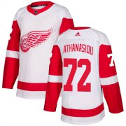Wholesale Cheap Adidas Red Wings #72 Andreas Athanasiou White Road Authentic Stitched Youth NHL Jersey