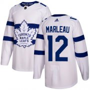 Wholesale Cheap Adidas Maple Leafs #12 Patrick Marleau White Authentic 2018 Stadium Series Stitched Youth NHL Jersey