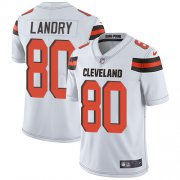 Wholesale Cheap Nike Browns #80 Jarvis Landry White Youth Stitched NFL Vapor Untouchable Limited Jersey