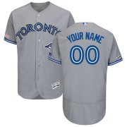 Wholesale Cheap Toronto Blue Jays Majestic Road Flex Base Authentic Collection Custom Jersey Gray