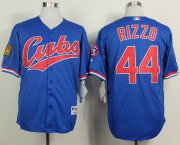 Wholesale Cheap Cubs #44 Anthony Rizzo Blue 1994 Turn Back The Clock Stitched MLB Jersey