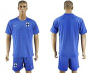 Wholesale Cheap Finland Blank Away Soccer Country Jersey