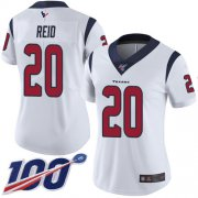Wholesale Cheap Nike Texans #20 Justin Reid White Women's Stitched NFL 100th Season Vapor Limited Jersey