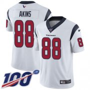 Wholesale Cheap Nike Texans #88 Jordan Akins White Youth Stitched NFL 100th Season Vapor Untouchable Limited Jersey