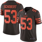 Wholesale Cheap Nike Browns #53 Joe Schobert Brown Youth Stitched NFL Limited Rush Jersey