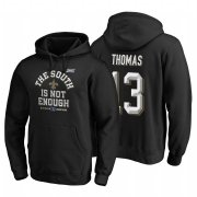 Wholesale Cheap New Orleans Saints #13 Michael Thomas 2019 NFC South Division Champions Black Cover Two Hoodie