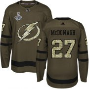 Cheap Adidas Lightning #27 Ryan McDonagh Green Salute to Service Youth 2020 Stanley Cup Champions Stitched NHL Jersey