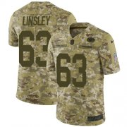 Wholesale Cheap Nike Packers #63 Corey Linsley Camo Men's Stitched NFL Limited 2018 Salute To Service Jersey
