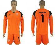 Wholesale Cheap Sevilla #1 Sergio Rico Orange Goalkeeper Long Sleeves Soccer Club Jersey