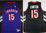 Wholesale Cheap Toronto Raptors #15 Vince Carter Hardwood Classic Black With Purple Swingman Jersey