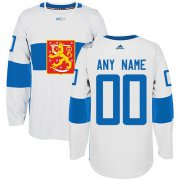 Wholesale Cheap Men's Adidas Team Finland Personalized Authentic White Home 2016 World Cup NHL Jersey
