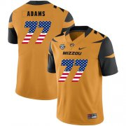 Wholesale Cheap Missouri Tigers 77 Paul Adams Gold USA Flag Nike College Football Jersey