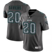 Wholesale Cheap Nike Eagles #20 Brian Dawkins Gray Static Men's Stitched NFL Vapor Untouchable Limited Jersey