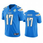 Wholesale Cheap Los Angeles Chargers #17 Philip Rivers Light Blue 60th Anniversary Vapor Limited NFL Jersey