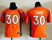 Wholesale Cheap Nike Broncos #30 Terrell Davis Orange Team Color Youth Stitched NFL New Elite Jersey