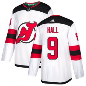 Wholesale Cheap Adidas Devils #9 Taylor Hall White Road Authentic Stitched Youth NHL Jersey