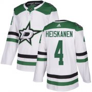 Wholesale Cheap Adidas Stars #4 Miro Heiskanen White Road Authentic Stitched NHL Jersey