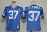 Wholesale Cheap Mitchell And Ness Seahawks #37 Shaun Alexander Blue Stitched Throwback NFL Jersey