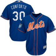 Wholesale Cheap Mets #30 Michael Conforto Blue 2018 Spring Training Cool Base Stitched MLB Jersey