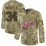 Wholesale Cheap Adidas Red Wings #34 Petr Mrazek Camo Authentic Stitched NHL Jersey