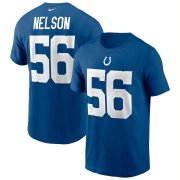 Wholesale Cheap Indianapolis Colts #56 Quenton Nelson Nike Team Player Name & Number T-Shirt Royal