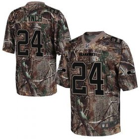 Wholesale Cheap Nike Seahawks #24 Marshawn Lynch Camo Men\'s Stitched NFL Realtree Elite Jersey