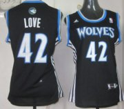 Wholesale Cheap Minnesota Timberwolves #9 Ricky Rubio Revolution 30 Swingman Black Womens Jersey