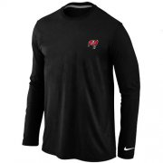 Wholesale Cheap Nike Tampa Bay Buccaneers Sideline Legend Authentic Logo Long Sleeve T-Shirt Black