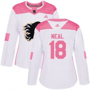 Wholesale Cheap Adidas Flames #18 James Neal White/Pink Authentic Fashion Women's Stitched NHL Jersey