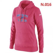 Wholesale Cheap Women's Nike Detroit Lions Heart & Soul Pullover Hoodie Pink