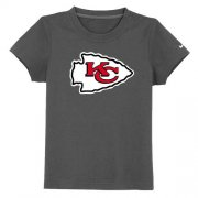 Wholesale Cheap Kansas City Chiefs Sideline Legend Authentic Logo Youth T-Shirt Dark Grey