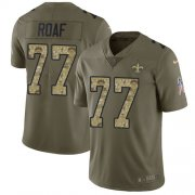 Wholesale Cheap Nike Saints #77 Willie Roaf Olive/Camo Men's Stitched NFL Limited 2017 Salute To Service Jersey
