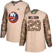 Wholesale Cheap Adidas Islanders #29 Brock Nelson Camo Authentic 2017 Veterans Day Stitched Youth NHL Jersey