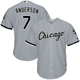 Wholesale Cheap White Sox #7 Tim Anderson Grey New Cool Base Stitched MLB Jersey