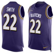 Wholesale Cheap Nike Ravens #22 Jimmy Smith Purple Team Color Men's Stitched NFL Limited Tank Top Jersey