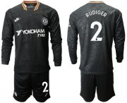 Wholesale Cheap Chelsea #2 Rudiger Third Long Sleeves Soccer Club Jersey