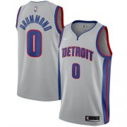 Wholesale Cheap Nike Pistons #0 Andre Drummond Silver NBA Swingman Statement Edition Jersey