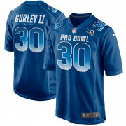 Wholesale Cheap Nike Rams #30 Todd Gurley II Royal Men's Stitched NFL Limited NFC 2019 Pro Bowl Jersey