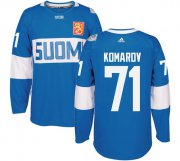 Wholesale Cheap Team Finland #71 Leo Komarov Blue 2016 World Cup Stitched NHL Jersey