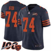 Wholesale Cheap Nike Bears #74 Germain Ifedi Navy Blue Alternate Men's Stitched NFL 100th Season Vapor Untouchable Limited Jersey