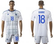 Wholesale Cheap Bosnia Herzegovina #18 Djuric Away Soccer Country Jersey