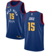 Wholesale Cheap Nike Denver Nuggets #15 Nikola Jokic Navy NBA Swingman City Edition Jersey