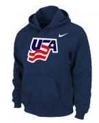 Wholesale Cheap Team USA Graphic Legend Performance Pullover NHL Hoodie Dark Blue